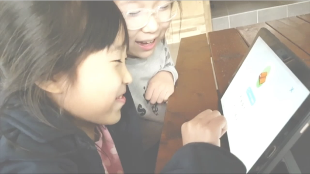 Showing children's study video