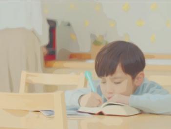Child have to do workbooks.